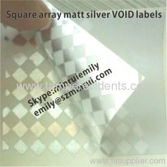 Sivler Checkerboard VOID labels