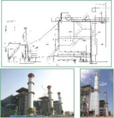 gas steam turbine waste heat generating heat boiler