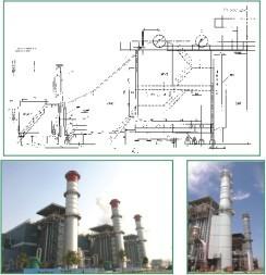 gas steam turbine waste heat generating heat boiler