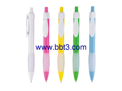 Promotional plastic ballpen with raindrop shape clip