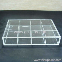 Clear acrylic storage custom box with dividers