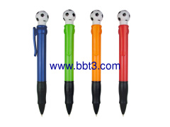 Promotional jumbo plastic ballpen with ball topper