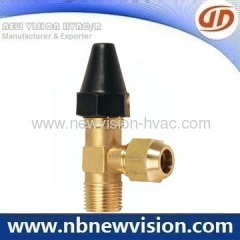 Refrigeration Angle Brass Ball Valve