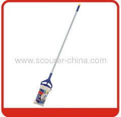 Swivel Cotton Wet Mop with color bag yellow+blue