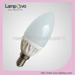 400LM E14 E27 4W C37 Ceramic Housing and Glass Cover LED Bulb