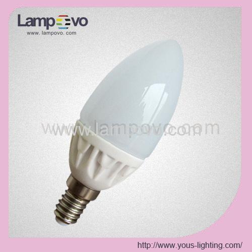 400LM E14 E27 4W C37 Ceramic Housing and Glass Cover LED Bulb