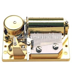 LUXURY WIND UP MUSIC BOX MOVEMENT GOLDEN 36 NOTE