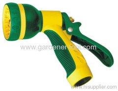Plastic water trigger hose gun with 8 different function