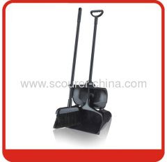 Lobby black dustpan & broom with PVC Broomstick Material
