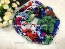 Mixed Color Women Cotton / Voile Scarves Neck Warmers Of Winter