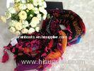 Autumn Alphabet Printed Voile Scarves Big Kerchief With Pendant