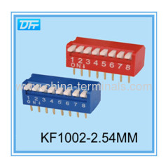 Piano type 2.54mm DIP switch