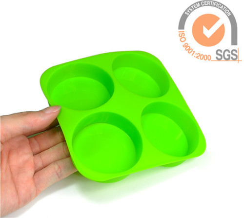 Fashion 4cups Silicone baking molds & cake molds in pop selling