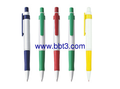Promotional clip ballpoint pen with rubber grip