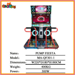 PUMP FIESTA,MA-QF301-1,2013 Attractive Electronic Arcade Music Dancing game machine