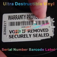 security asset tracing sticker