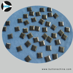 Square metal hot fix stud for T'shirt or garments
