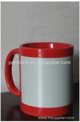 Sublimation Red Flower Blank Mug