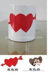 Sublimation Heart Color Changing Mug