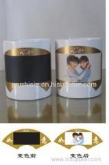 Sublimation color border-color changing mug