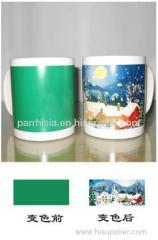 Sublimation Green Part Color Changing mug