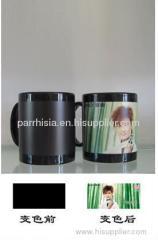 Sublimation Black Full color Changing mug