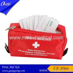 2012 Red travel first aid kit