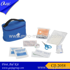 New blue color of home first aid kit