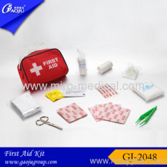 Nylon material red first aid bag