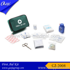 Green color Nylon material Car First Aid Kit