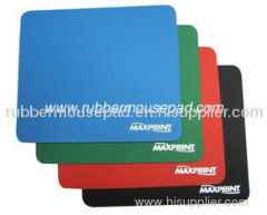 Promotional Rubber Mouse Pad, Colour Soft Fabric Mouse Mats