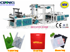 Full automatic non woven D-cut bag making machine price