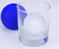 FDA 2.85inch Silicone Ice ball mold in Black Color with Logo