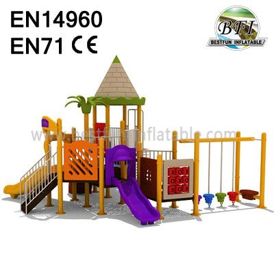 Playground Equipment Tree House Slides