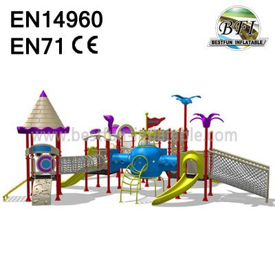 Nice Outdoor Playgrounds Kids Spiral Slide