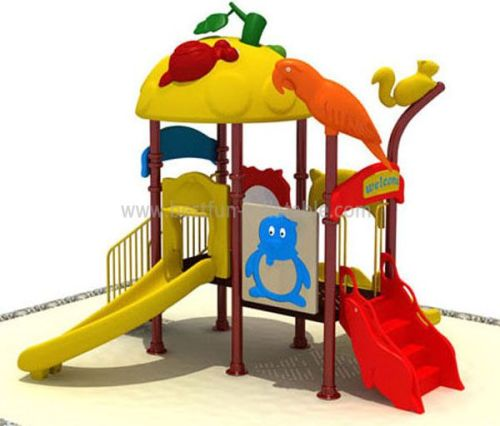 Outdoor Kids Plastic Slide With Swing