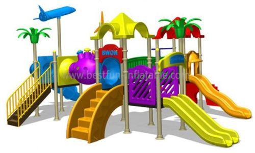 Playground Park Slides Spiral