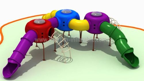 Residential Plastic Outdoor Playground Equipment