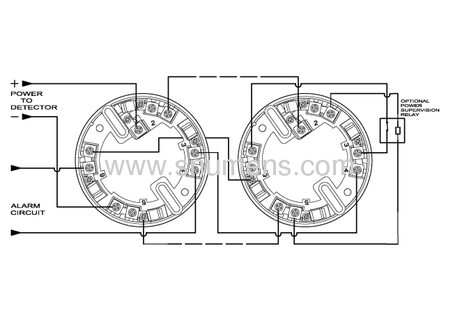 buzzer assembled conventional system smoke detector from
