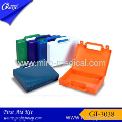 Colorful empty first aid kit box