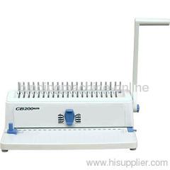 plastic comb binding machine for book