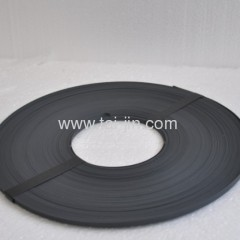 Titanium ribbon substrate coated with a mixed metal oxide catalyst
