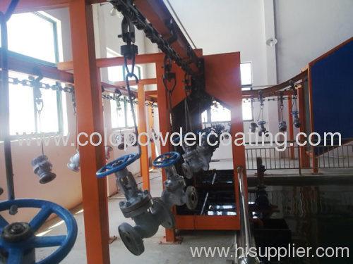 Powder coating overhead conveyor system