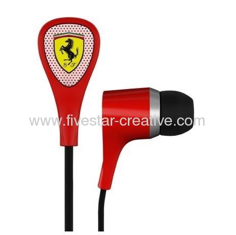 Scuderia Ferrari S100 Red Earphones