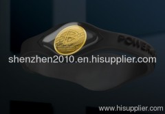 2013 NEW two gold power balance hologram golf health bracelet GOLD HOLOGRAM SILICONE WRISTBAND