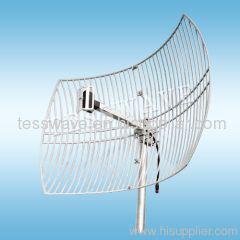 2.6 GHz 24dBi high gain directional narrow beamwidth wimax parabolic grid antenna