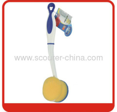 Kitchen cleaning sponge brush with paper card. 48pcs/ctn