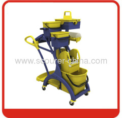 Europe New design Mop cleaning bucket wringer trolley