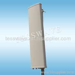 2.3-2.7 GHz 17dBi 90 degree dual slant polarized mimo sectorial panel antenna