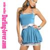 Blue Sexy Spandex Clubwear